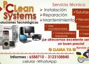 ReparaciÓn y mantenimiento de lavadoras, neveras, estufas, calentadores, aires acondicionados.
