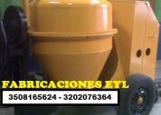 Trompo mezclador con motor diesel o gasolina