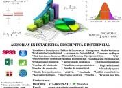 Clases de probabilidad y estadística (descriptiva e inferencial)  whatsapp 322-603-95-91 (virtual)