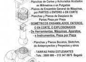 Levantamientos y dibujo de planos de ingenierÍa mecÁnica