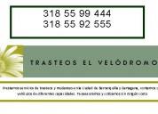 Trasteos en cartagena 318  55 99 444 y 318  55 92 555.