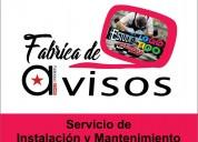 servicio e instalacion de anuncios