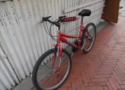 vendo bicicleta tipo todo terreno color roja . casi nueva - perfecto estado