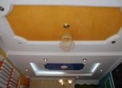 Cielo raso en drywall- pvc- cornisas en yeso