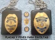 Placas de identificación para personal de seguridad