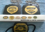 Placas para personal de seguridad