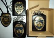 Placas de idenificacion para personal de seguridad