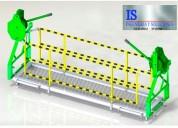 Fabricacion e instalacion de andamios colgantes certificados