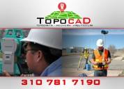 Ofrecemos servicios de topografía e ingeniería en digitalizacion de proyectos
