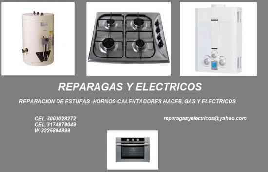 Estufas, Hornos, Calentadores, Gas , Electricos