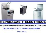 Reparacion de freidores a gas, electricos en cali cel.3003028272