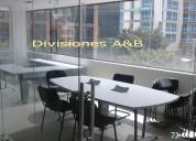 Mesas de juntas,divisiones,puestos de trabajo.recepciones