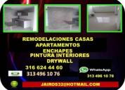 Arreglos locativos pintura enchape drywall whatsap 313 4 96 10 76