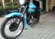 Hermosa moto clÁsica triumph  650 en venta