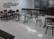 Vendo mesas y sillas para negocio cafeteria, restaurante,en acero inox  3.47.49.63