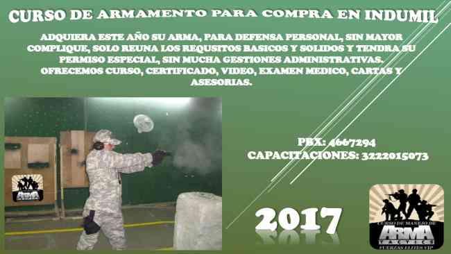 CURSO DE MANEJO DE ARMAS PARA INDUMIL
