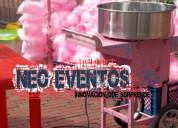 Alquiler de maquina de crispetas algodones y mas para eventos y fiestas