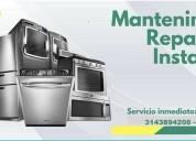 Reparación y mantenimiento de lavadoras, neveras, estufas y equipos industriales