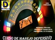 Ofrecemos curso de manejo defensivo certificado
