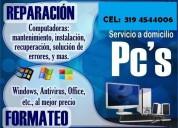 ReparaciÓn y mantenimiento de computadores en medellÍn poblado  tel: 319 4544006