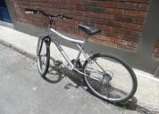 Vendo bicicleta tipo todo terreno color  plateada
