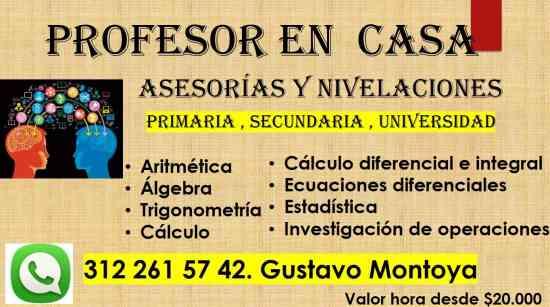 MATEMÁTICAS  CLASES Y ASESORÍAS