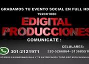 Grabacion de eventos sociales en full hd