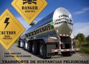 Curso virtual transporte de sustancias peligrosas