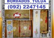 Bordados profesionales, articulos religiosos, estatuas santos, camandulas, rosarios,