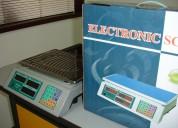 Basculas electrónicas tipo supermercado, capacidad máxima de peso 30