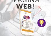 Pagina web + 500 tarjetas de presentaciÓn + volante digital