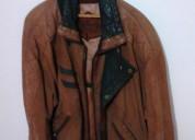 chaqueta de cuero gamuzado traida de españa