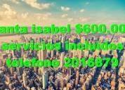 Arriendo apartaestudio santa isabel bogota $550000 tele 2016879