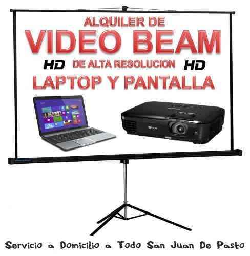 alquiler de video beam pasto 3154601031