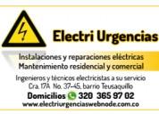 Electricistas a domicilio,galerias,rosales,chapinero,la soledad, teusaquillo.