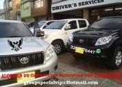 Alquiler de camionetas blindadas c/conductor o conductor elegido