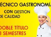 Titulate como chef en solo 3 semestres