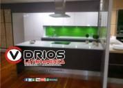 Barrio santa sofia cocinas integrales en vidrio templado o en aluminio vidrios latinoamerica