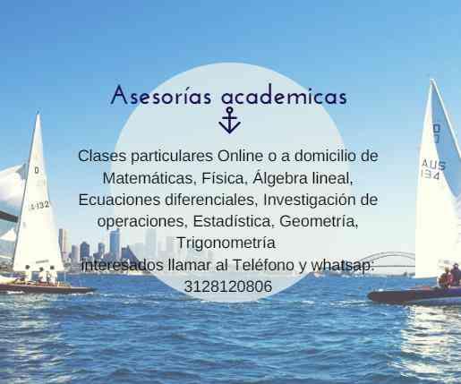 Solución de exámenes y trabajos de Estadística, Matemática, Física, Calculo, Álgebra Lineal, Q