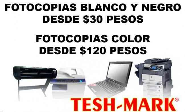 TESH MARK MEDELLIN TE BRINDA EL SERVICIO DE FOTOCOPIADO E IMPRESION BLANCO Y NEGRO AL POR MAYOR