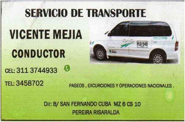 SERVICIO DE TRANSPORTE TURISTICO