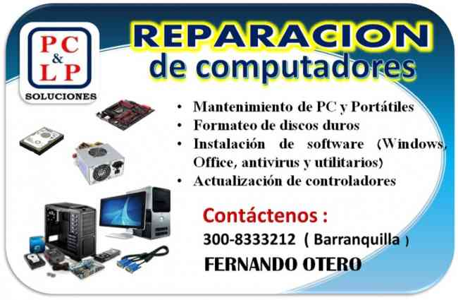 Mantenimiento a computadores ( PC - Portatil )