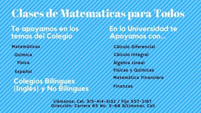 Clases de Matemáticas para todos