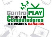 Compro tv lcd smart led dañado  a domicilio