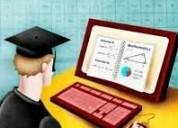 Se hacen trabajos de recuperación y exámenes de colegios y universidad