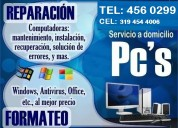 Reparación de computadores en medellín poblado  tel: 4560299