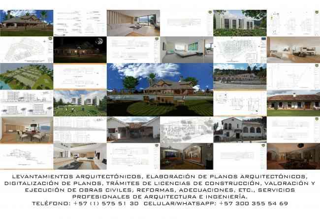 SERVICIOS PROFESIONALES DE ARQUITECTURA E INGENIERÍA. TELÉFONO: 575 51 30  CELULAR: 300 355 54 69