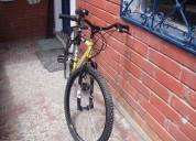 Vendo bicicleta tipo todo terreno  color  amallilla y negro.  marca tt fusion  - rin doble pared