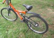 Vendo bicicleta tipo todo terreno color naranja marca shimano  rin 26 – en aluminio los rines,