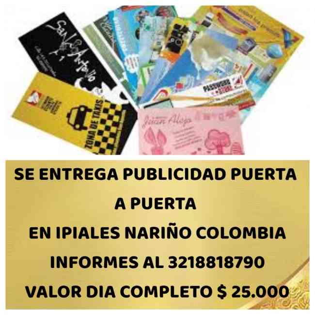 ENTREGO PUBLICIDAD , VOLANTES